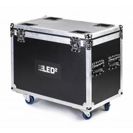 LED2 DOUBLE FLIGHT CASE BEAM 7/5R MOVING HEAD HYBRID