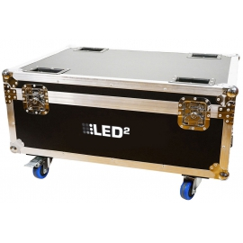 LED2 DOUBLE FLIGHT CASE BEAM 7/5R MOVING HEAD HYBRID